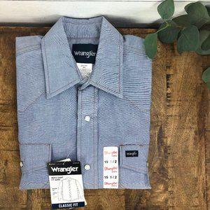 Vintage Wrangler NWT 15.5 Men's Western Shirt